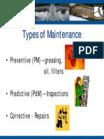 Clssification of Maintenance .