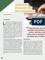 Técnicas de Reconstrucción de Documentos Quemados. Pedro López Calvo.