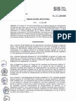 Resolución Jefatural N° 025-2017/SIS