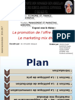 promotion de l'offre de service marketing mixte