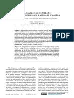A Linguagem como trabalho - reflexões iniciais sobre a alienação linguística.pdf