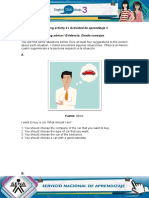 Evidence Expressing advice Evidencia Dando consejos.doc