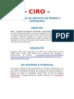 CIRO - Manual