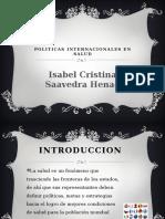 Politicas Internacionales de Salud