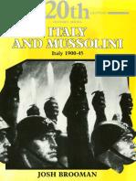 Josh Brooman Italy & Mussolini Italy 1900-45