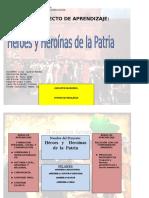Proyecto Héroes y Heroínas de La Patria. 2