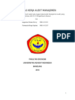 Kertas Kerja Audit Manajemen