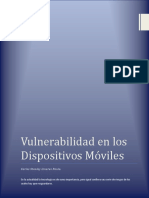 Vulnerabilidad en Los Dispositivos Moviles