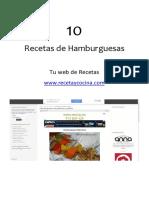 Receta y Cocina 10 Recetas de Hamburguesas