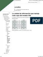 Unidad Informacion Capa Osi