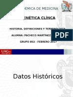 Historia y Termnologia Genetica