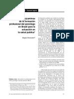 Los descaminos de la formacion profesional del psicologo en Brasil para la actuación en la salud publica.pdf
