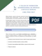 i Taller de Formacion Internacional en Drenaje Linfatico Manual 2017