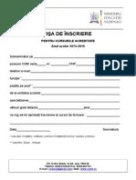 Cerere Inscriere Curs Acreditate 2013.
