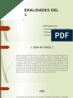 Exposicion Digitales 2 - Generalidades Del Vhdl