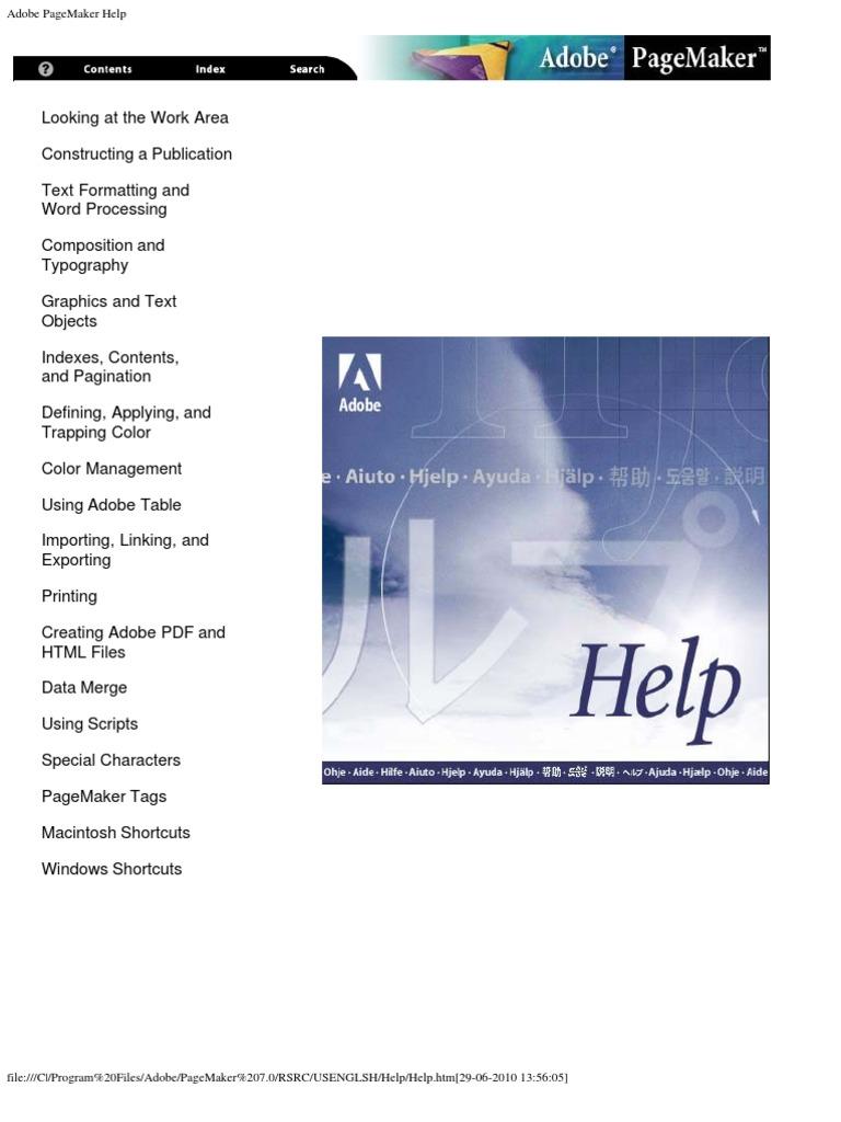 adobe pagemaker help search engine indexing portable document format rh scribd com Adobe InDesign adobe pagemaker user manual