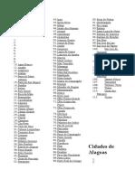 Cidades de Alagoas