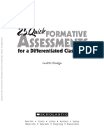 25 Formative Assessments Judith Dodge