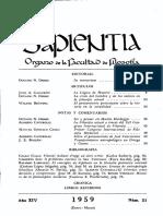 Revista Sapientia - Fascículo 51
