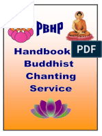 PBHP Handbook Of Buddhist Chanting Service