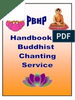 PBHP Handbook Of Buddhist Chanting Service