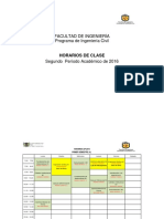 Horario Ing.civil 2016-II