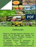 Botánica General Introducción 2016