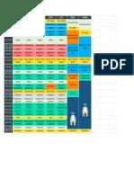 Modelo de Cronograma de Estudos Do Curso Medicina - 2017