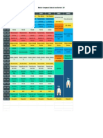 Modelo de Cronograma de Estudos Do Curso Enem Noite - 2017