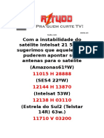 Instabilidade Do Satélite Intelsat 21 58Wº