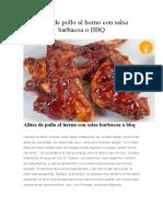 Alitas de pollo al horno con salsa barbacoa o BBQ.docx
