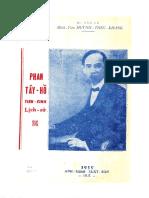 (1959) Phan Tây Hồ Tiên Sinh - Huỳnh Thúc Kháng