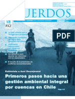 Primeros pasos hacia una gestión ambiental integral por cuencas en Chile
