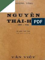 (1949) Nguyễn Thái Học 1902-1930 - Nhượng Tống