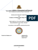 Internship Report on Finance MBA