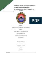 Metodología y Técnica de Estudio - Estrategias de Aprendizaje