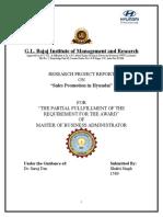 Internship Report for MBA