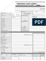 Annex E Revised Personal Data Sheet