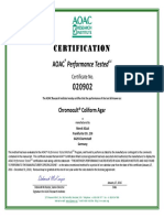 1. Chromocult Coliform Agar AOAC_FOOD 2016