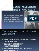 3.4.3. Nutritional Assessment