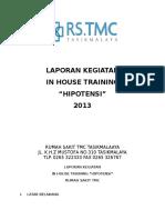 Laporan Kegiatan in House Training Hipotensi
