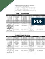 Programa y Reglamento Ajedrez Menor 2010