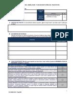 Formato de Análisis y Descripción de Puestos Registro