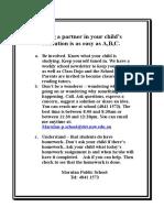 teacher letter to parents