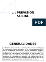 La Previsión Social