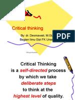 Critical Thinking 2013