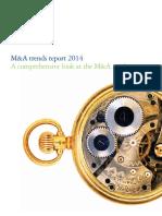 M&a Trend Report 2014 - Deloitte
