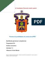 frontera de posibilidades de producción (FPP)