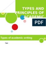 Types & Principles of Academic Writing