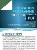 Conscientization Programme